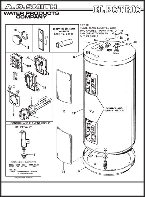 ao smith water heater wiring diagram images wiring