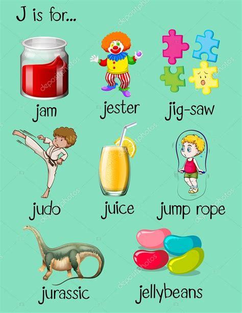 imagenes que inicien con la letra j diferentes palabras empiezan con la letra j vector de