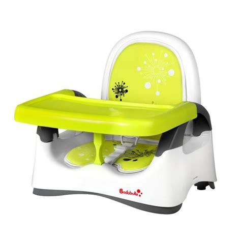 siege de table enfant badabulle r 233 hausseur confort blanc vert blanc vert