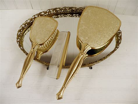 Vintage Brush And Mirror Dresser Set by Vintage Goodness 1 0 New Goodness On Ebay This Week