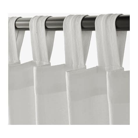 lenda curtains ikea lenda curtains with tie backs 1 pair white 140x250 cm ikea
