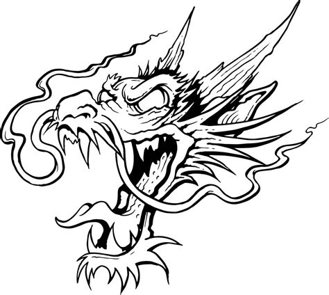 dragon head tattoo designs drawings of dragons heads clipart best