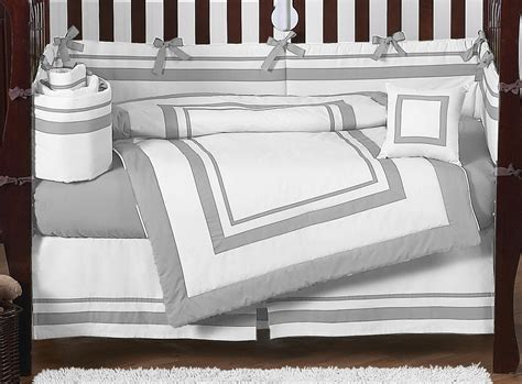 Grey And White Crib Bedding Contemporary Modern Gray And White Discount Cheap Baby Boy Crib Bedding Set