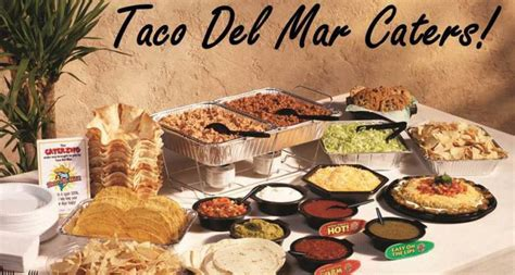 taco del mar catering menu prices  taco del mar