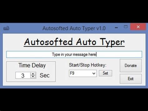 Auto Typer by Free Auto Typer By Autosofted