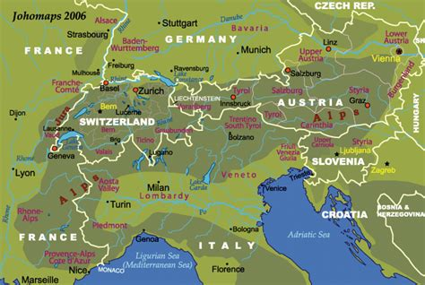 map of alps map of the alps johomaps