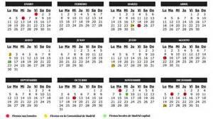 Calendario 2018 Dias Festivos Mexico Semana Santa Calendario Escolar De La Comunidad De Madrid