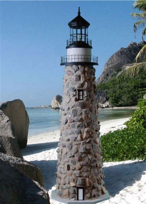 stone lawn lighthouses real rock  mortar lighthouse