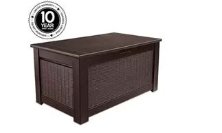 rubbermaid bench deck box rubbermaid deck boxes outdoor furniture
