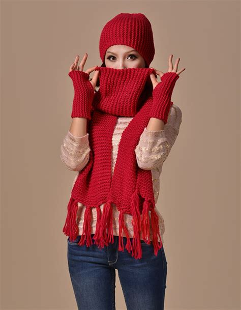 get cheap hat gloves scarf aliexpress