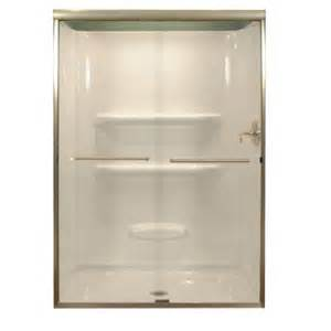 lyons shower doors lyons industries 47 in x 68 in semi framed sliding