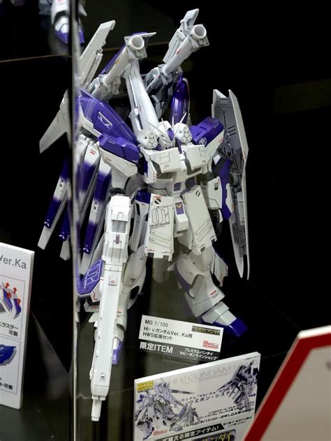update mg 1 100 hi nu gundam ver ka p bandai hws heavy weapon system on display gundam