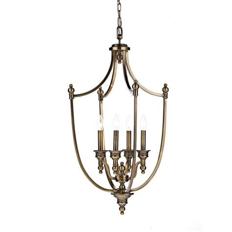 Dar Pendant Lighting Dar Lighting Lombard Lom0475 Antique Brass 4 Light Pendant Dar Lighting From Lightplan Uk