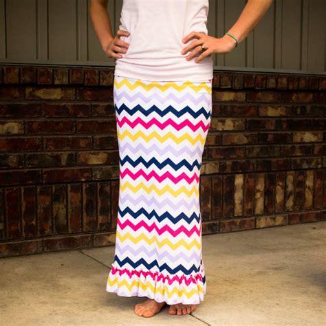 s ruffled maxi skirt sewing pattern
