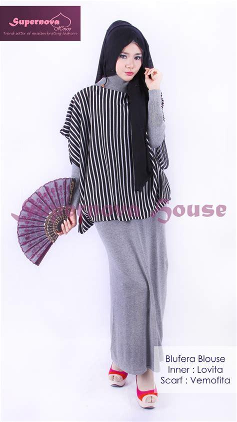 Baju Lorek Hitam Putih blufera blouse hitam putih baju muslim gamis modern