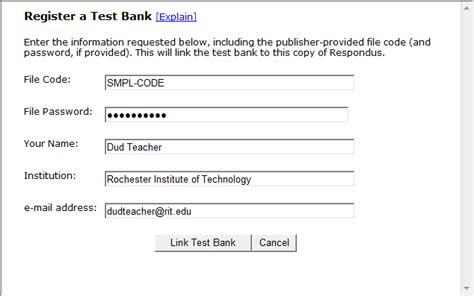 bank test publisher test banks respondus rit wiki