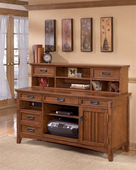 buy cross island credenza desk with hutch by millennium