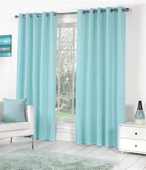blue eyelet curtains pindia sky blue faux silk eyelet door window curtain 8ft