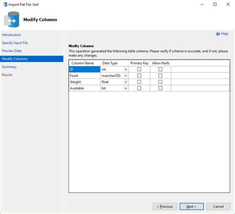 Flat Import import flat file to sql microsoft docs