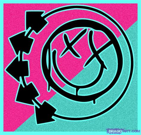 drawing blink 182 logo how to draw blink 182 symbol step by step band logos