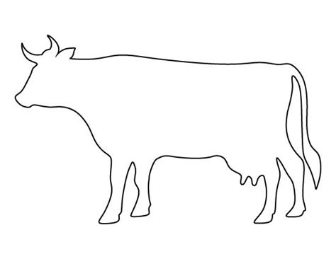 cow pattern use the printable outline for crafts
