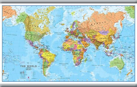 printable poster size world map world wall map political poster print art map size