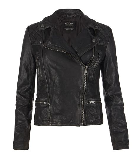 all black motorcycle jacket cargo leather biker jacket leather allsaints