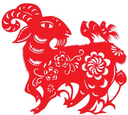 new year paper cutting template goat goat year paper cut vector vector animal vector