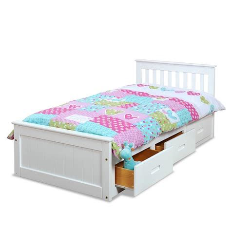 Single Bed With Drawers by Mission Storage Single Bed In White With 3 Drawers 27448