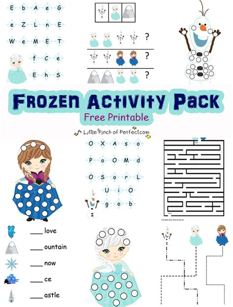 printable frozen activity book disney frozen inspired free printable activity pack