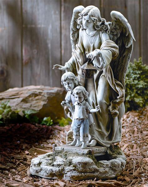 outdoor angel statues inc solar power guardian statue ebay