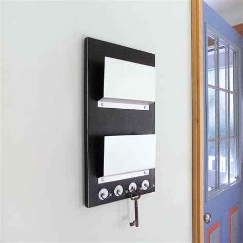 modern key rack for wall wall decor black modern wall mount mail holder key rack