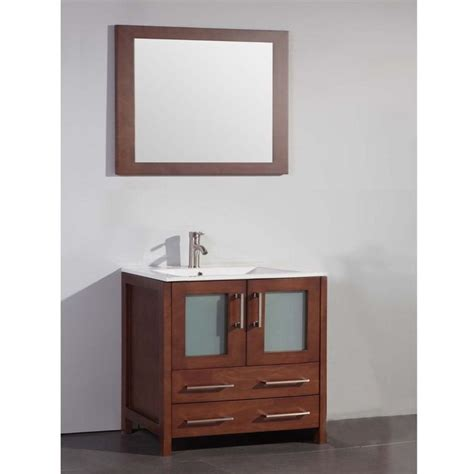 36 inch bathroom mirror legion furniture ceramic top 36 inch sink cherry bathroom vanity and matching framed mirror