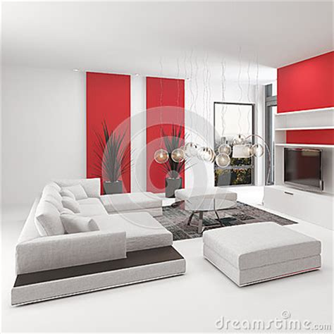 Modern Living Room Accents Modern Living Room Interior With Accents Stock