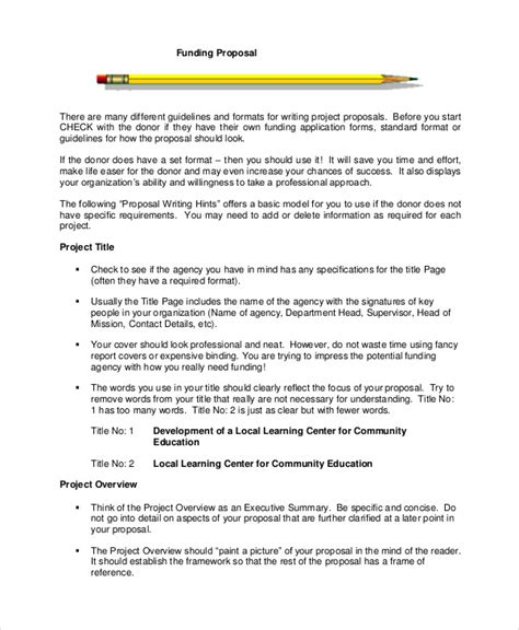 fundraising proposal templates document project proposal