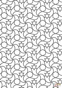 tessellation coloring pages alhambra tessellations coloring page free printable