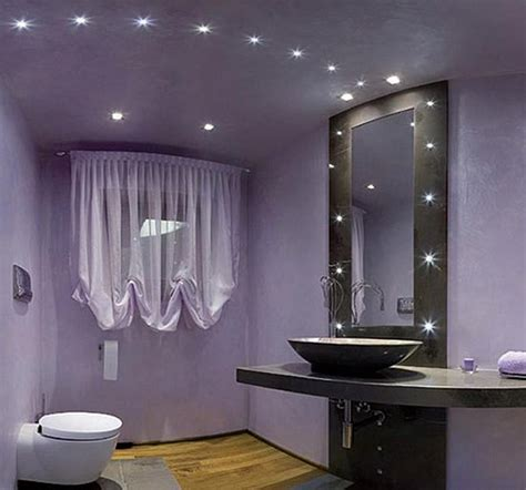 Bathroom Lighting Design Ideas Modern Purple Bathroom