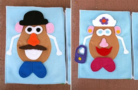 mr potato felt template lollipops and rainbows book template
