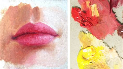 watercolor lips tutorial how to paint a realistic mouth lips youtube
