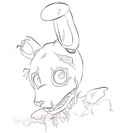 Fnaf 7 Coloring Pages by Trap Coloring Pages Coloring For