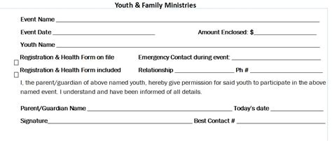 Permission Letter For Event event registration permission slip our saviour s lutheran church