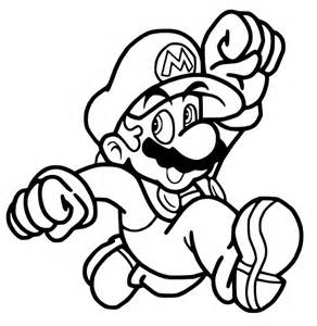Mario Jumping Coloring Pages Sketch Page sketch template