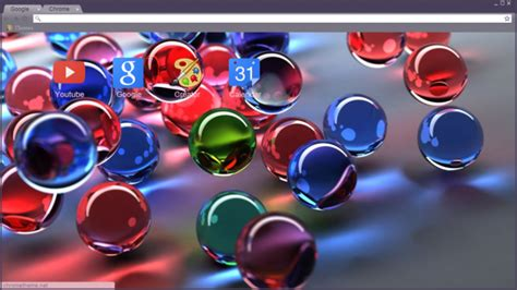 theme google chrome glass 3d glass ball chrome theme themebeta