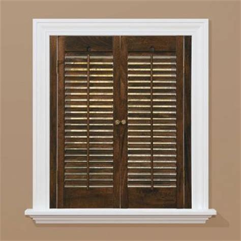 home depot interior window shutters homebasics traditional wood walnut interior shutter