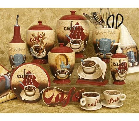 coffee themed kitchen canisters best 25 coffee theme kitchen ideas only on