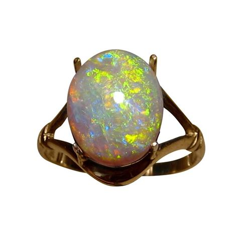 real blue opal real opal jewelry diamonique and synthetic opal ring