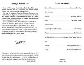 Funeral programs funeral program templates 5
