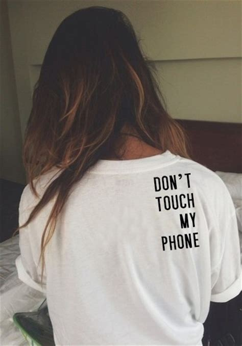 Tshirt Ouch Tees M G 2015 new tshirt don t touch my phone back letters