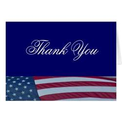 american flag patriotic thank you cards zazzle