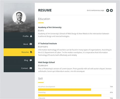 premium layers html vcard resume template 15 best resume cv themes freesumes